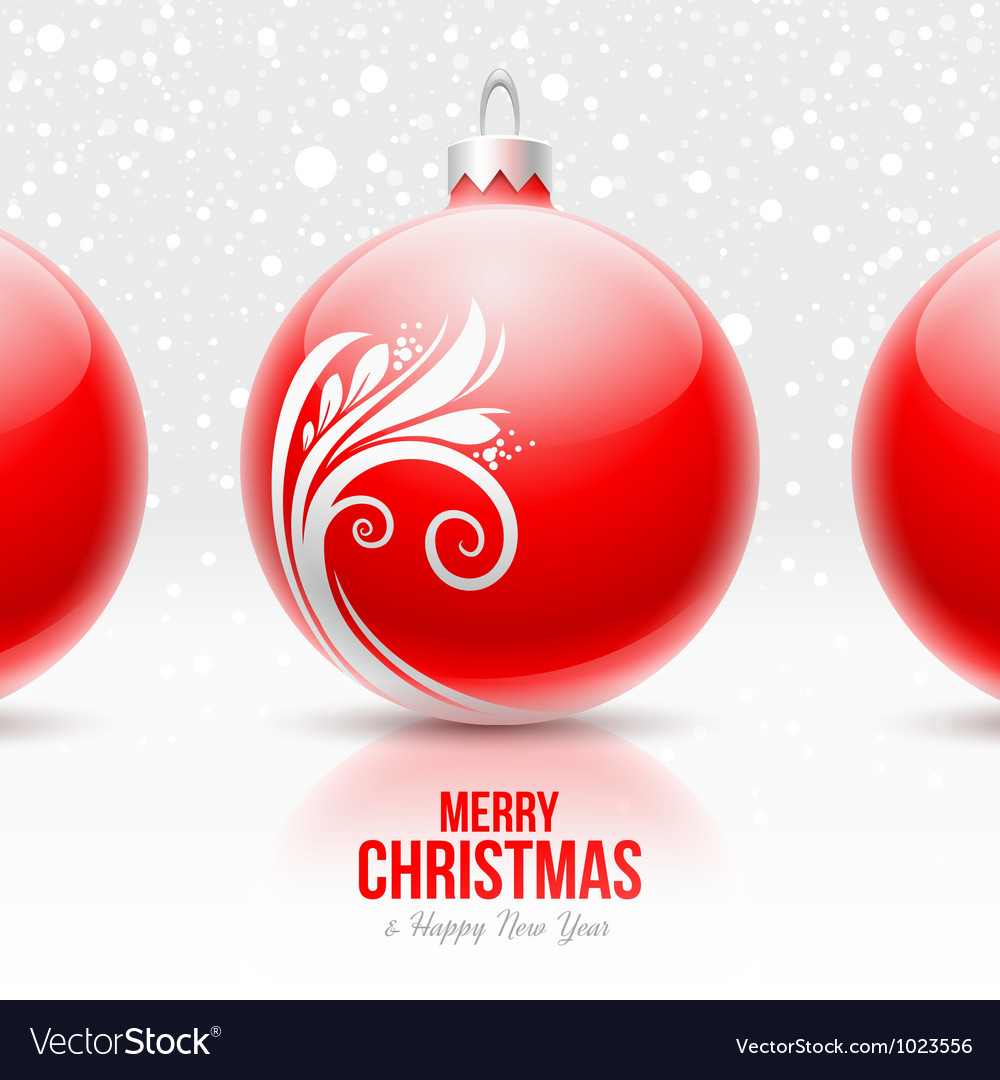 Red baubles with white decor - Christmas design
