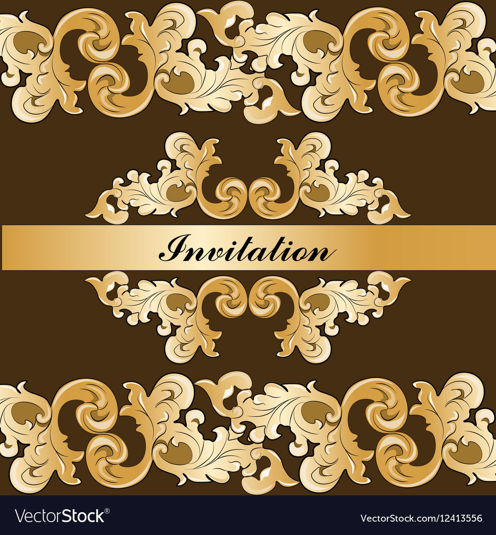Royal imperial classic invitation vector image