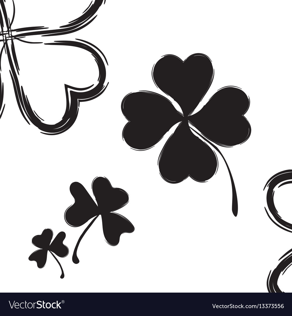 Shamrock icon for st patrick day