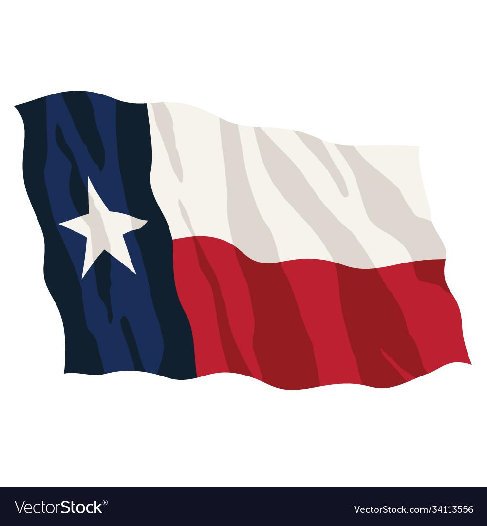 Texas state flag waving