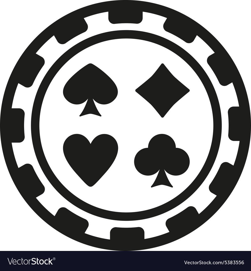 The casino chip icon Casino Chip symbol Flat