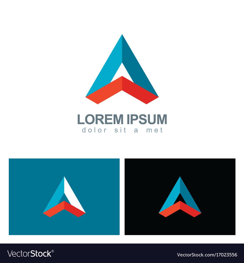 Triangle shape geometry colored business logo