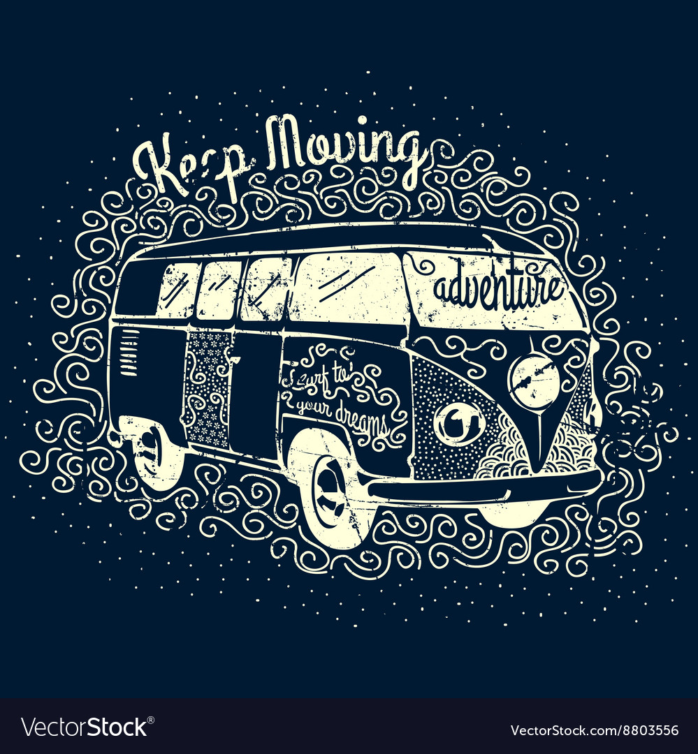 Vintage Adventure Camping T-shirt Print Design