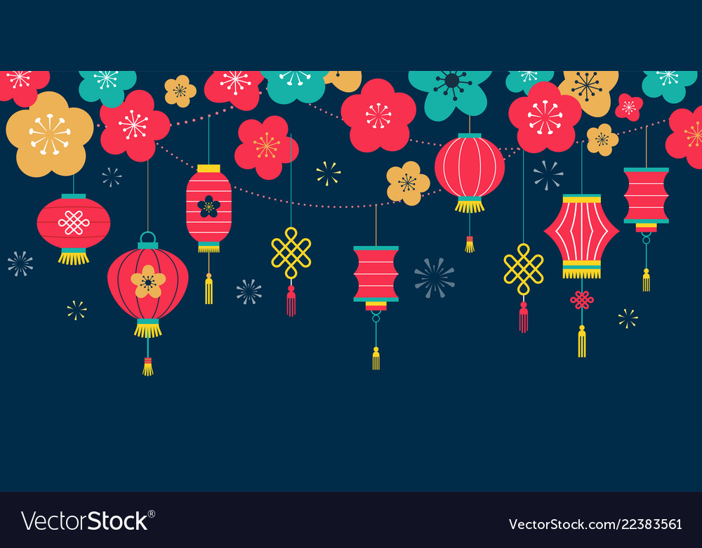 chinese new year background card print banner vector image