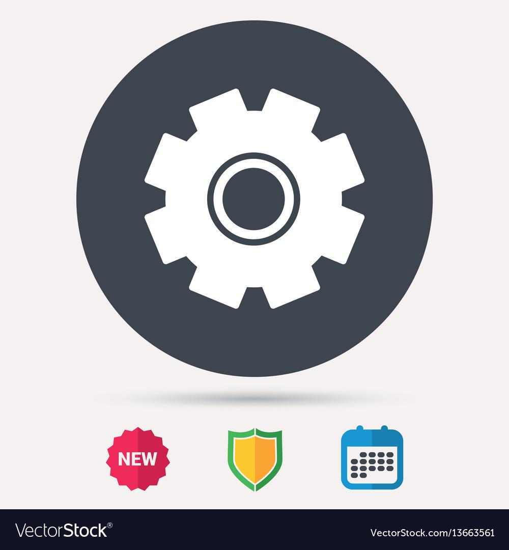 Cogwheel icon repair service sign