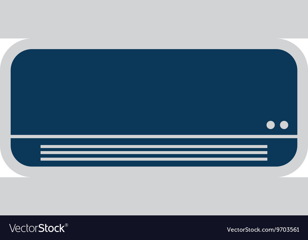 Conditioning air isolated icon design