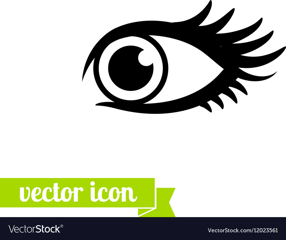Eye icon 10 vector image