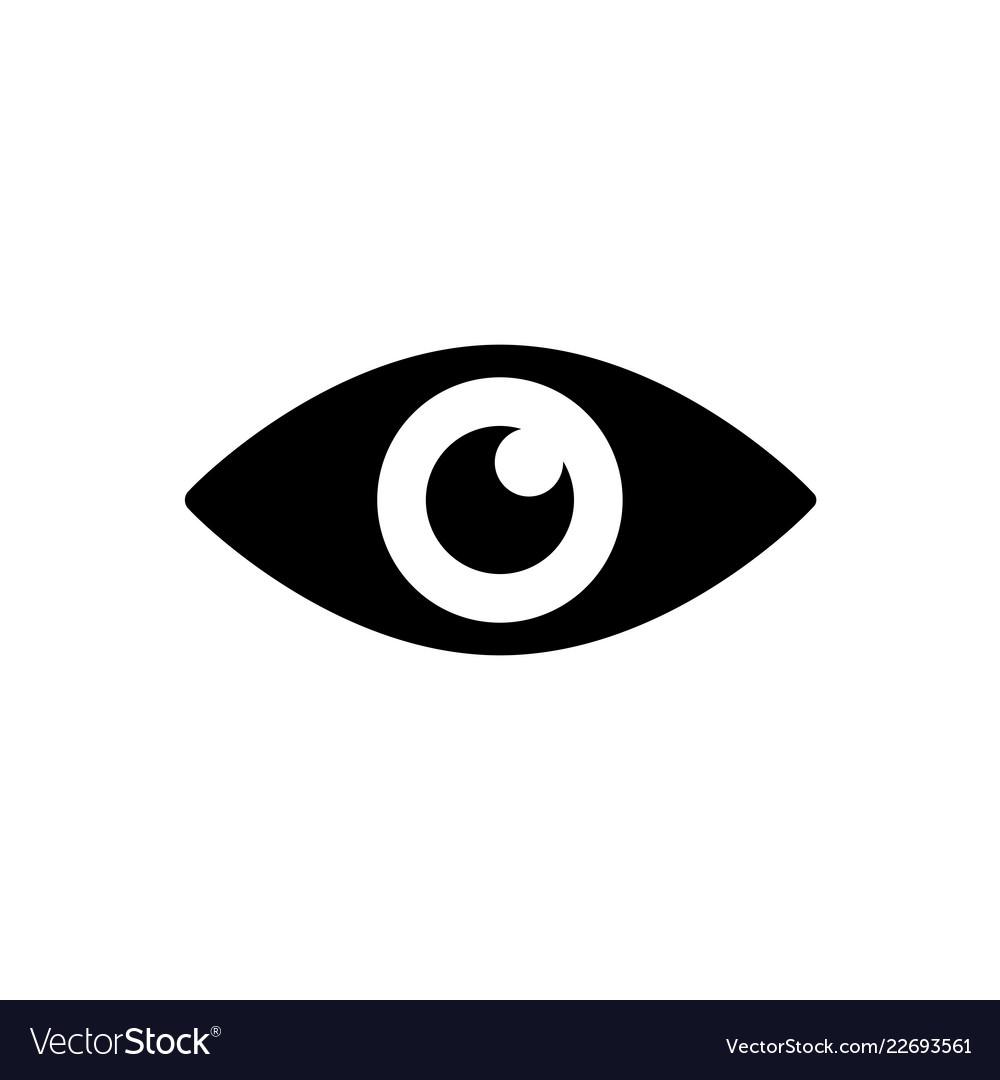 Eye icon in black