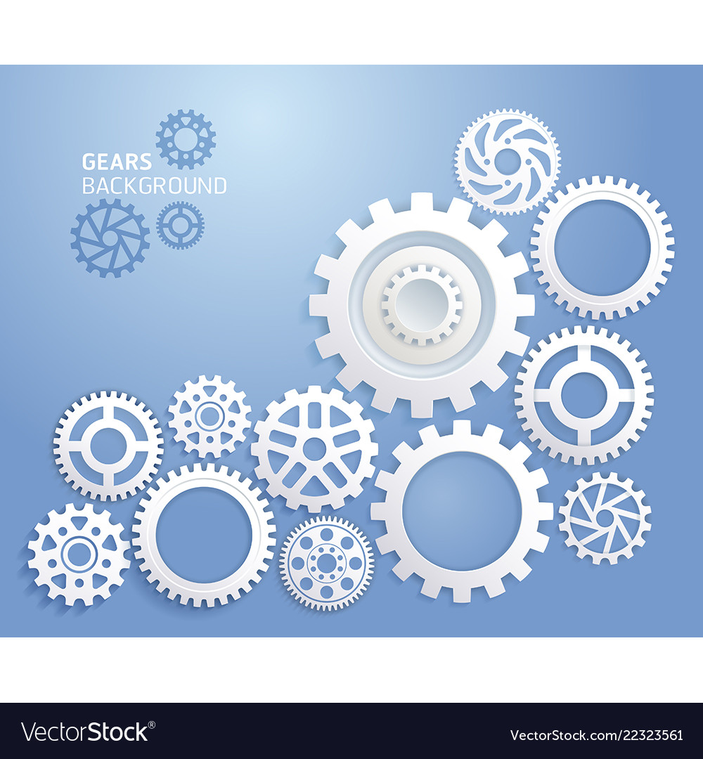 Gears background white color