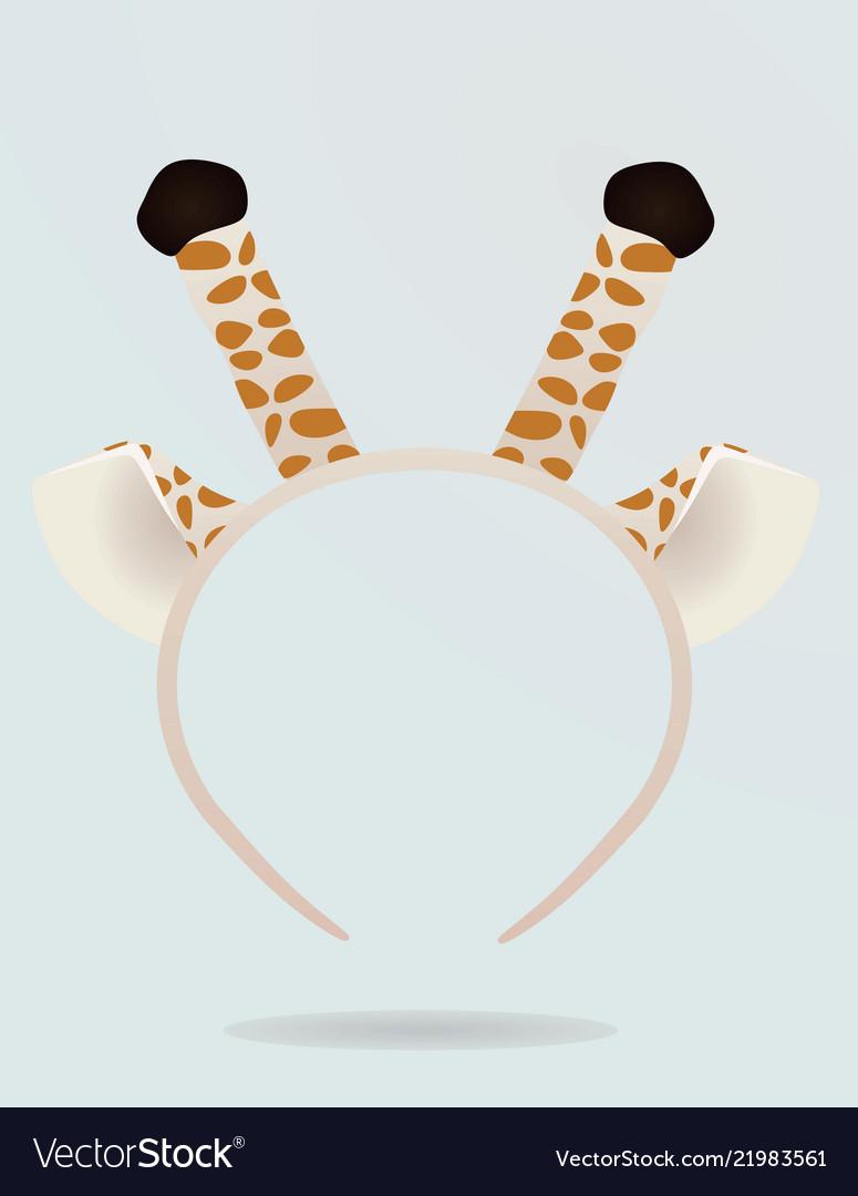 Giraffe ears and antenna head band mask