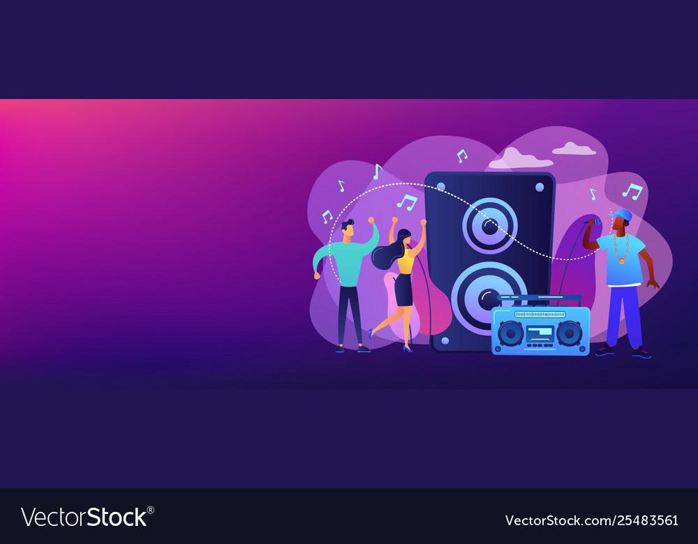 Hip-hop music concept banner header
