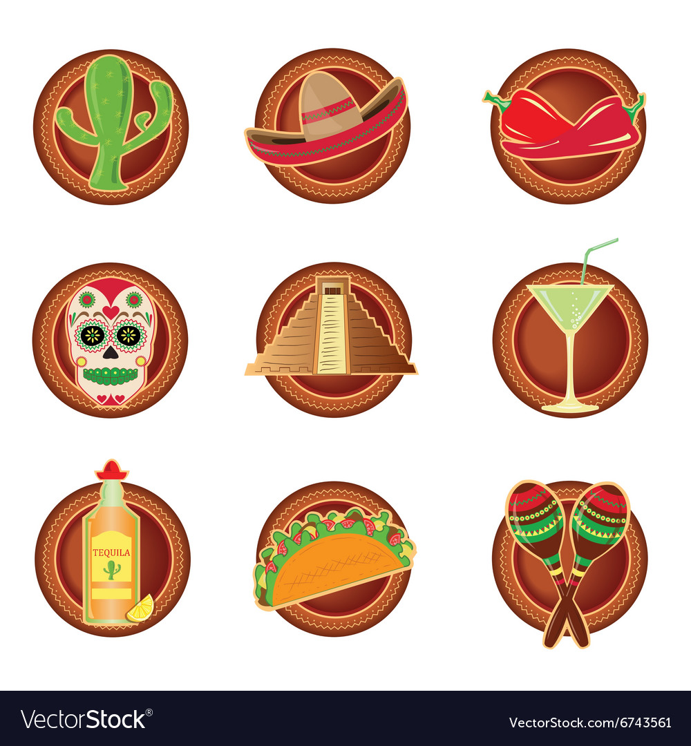 Mexico icon in Mexico style