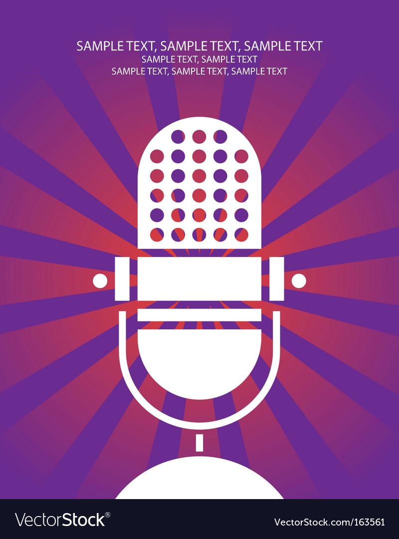 Retro microphone poster vector image