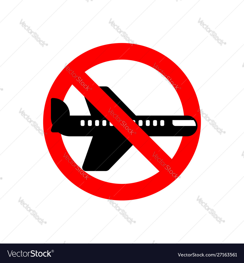 Stop aircraft it is forbidden to fly airliner