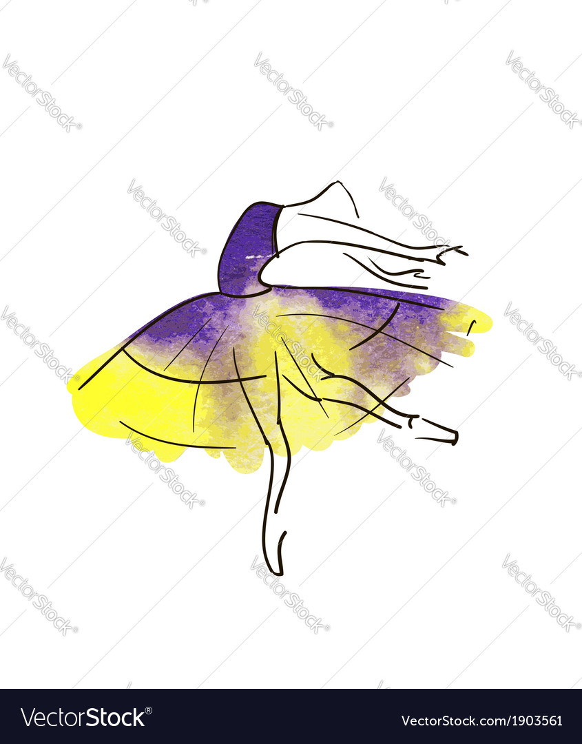 Stylised dancing woman vector image