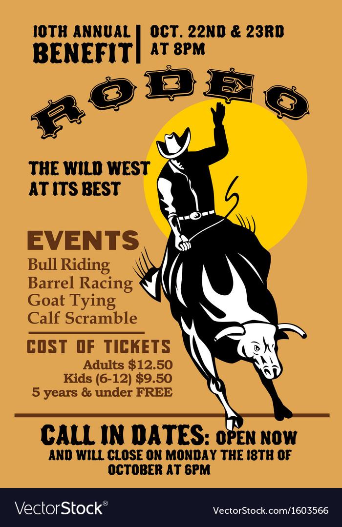 American rodeo cowboy riding bull
