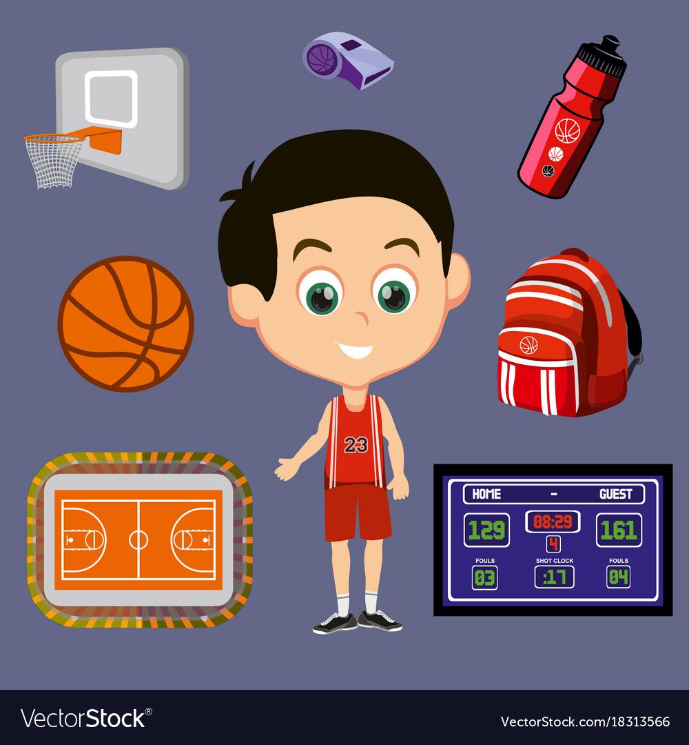 Basketball signs set
