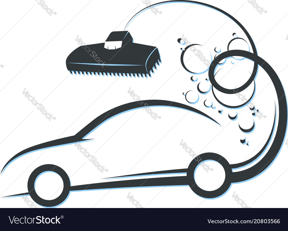Car cleaning and washing vector image