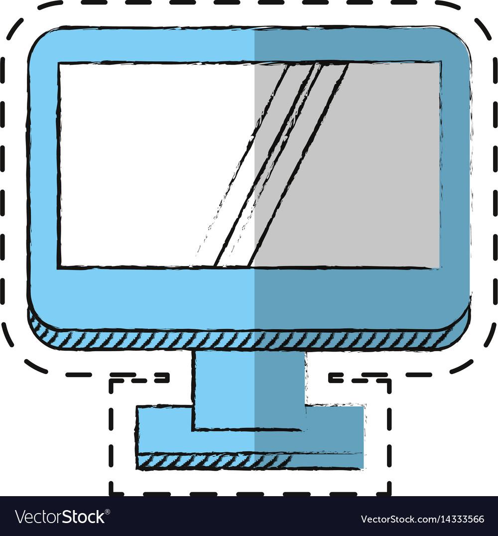 Cartoon computer screen device technology