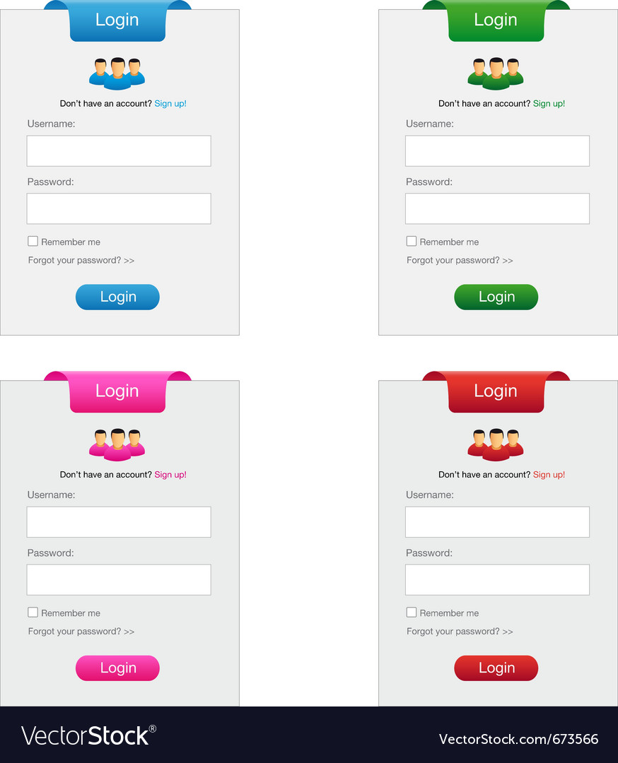 Collection of login form