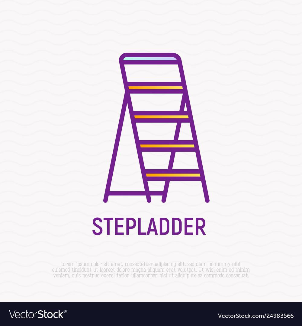 Stepladder thin line icon
