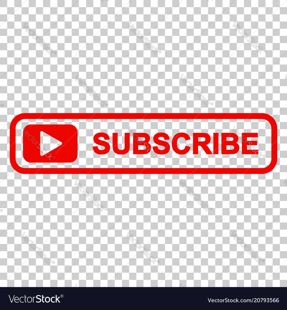 Subscribe Button Icon On Isolated Transparent Vector Image