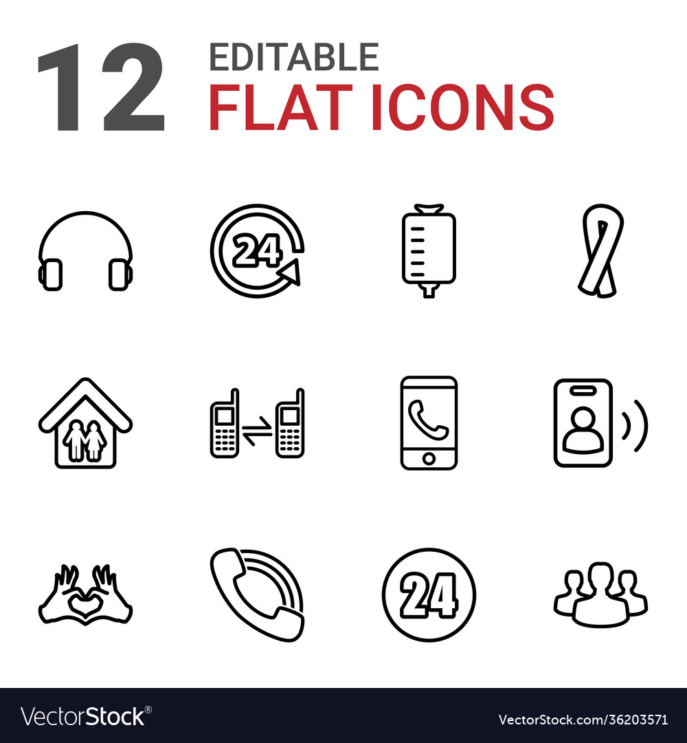 12 support icons