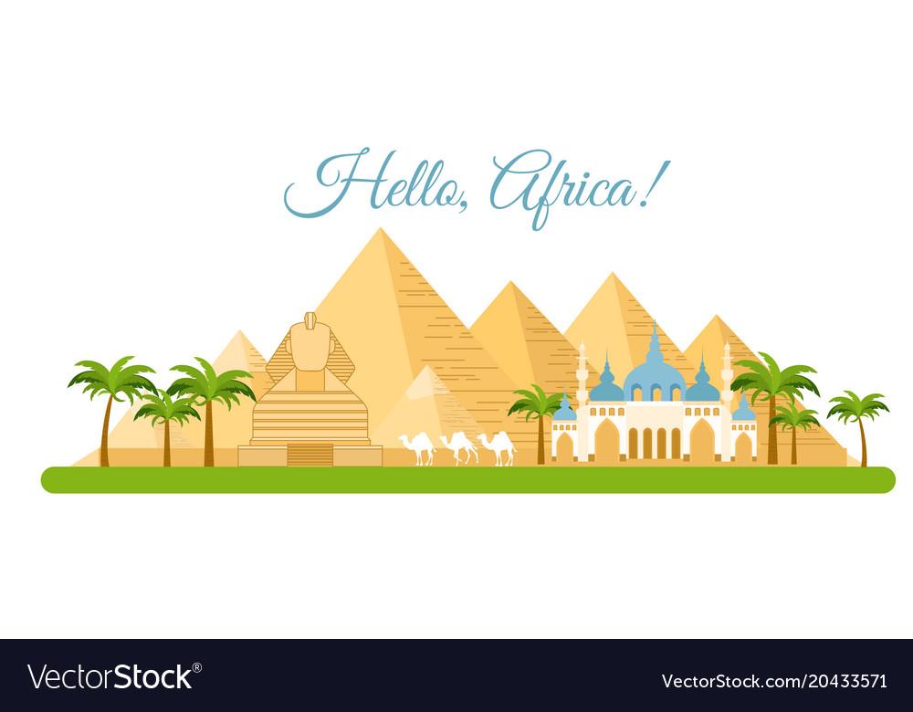Africa travel concept