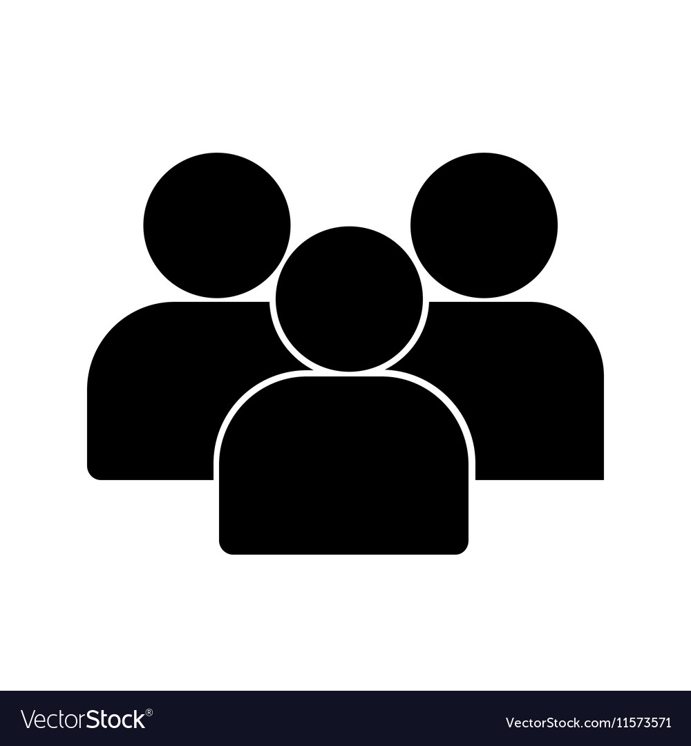 flat group of people icon symbol background vector image rh vectorstock com Black People Icon Infographic People Icons