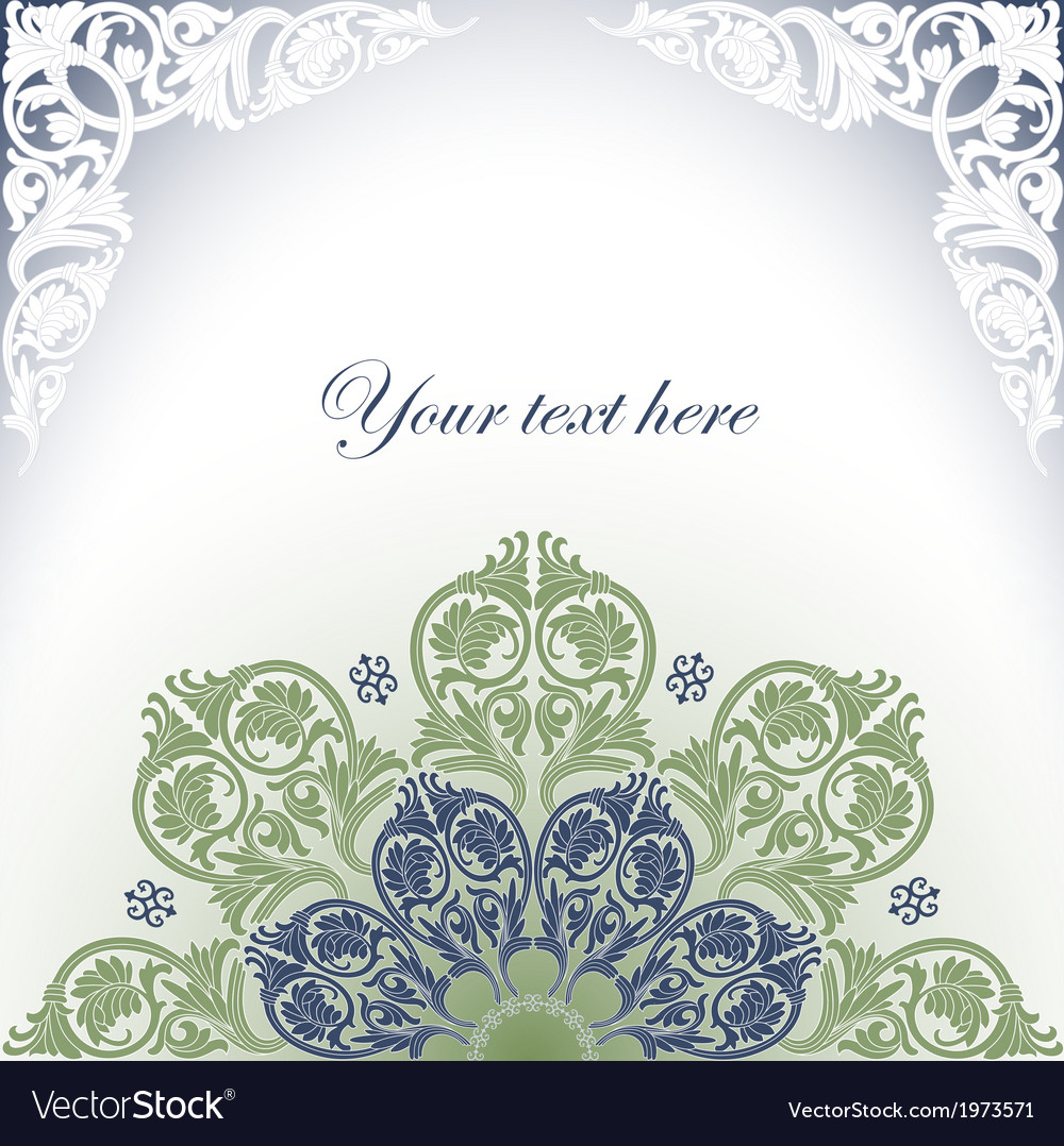 Border Frame Victorian With Frame With Baroque Ornaments Victorian Border Vector Image