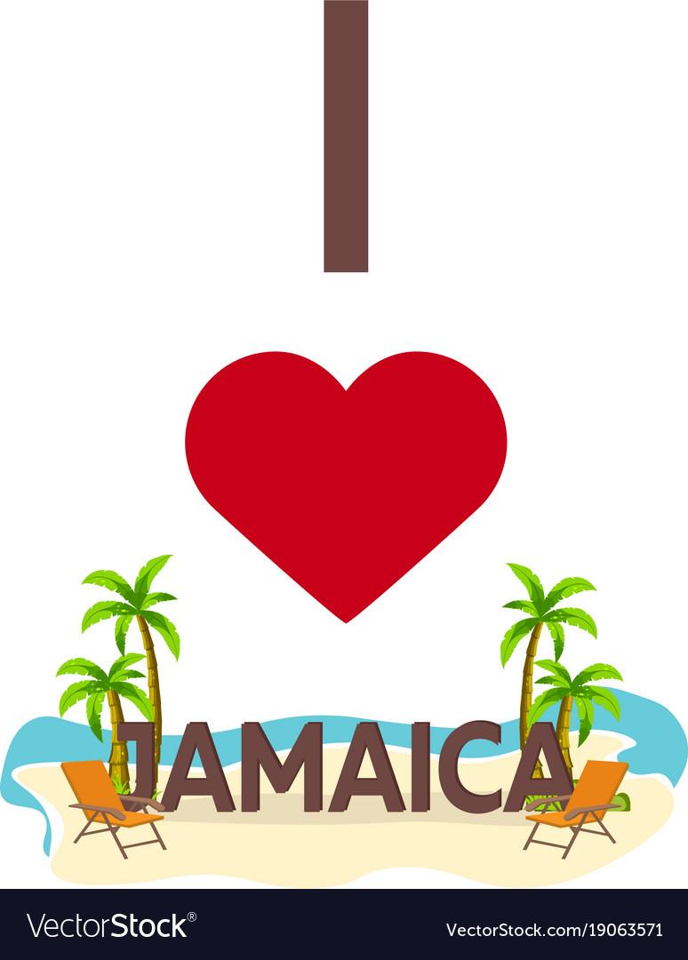 I love jamaica travel palm summer lounge chair