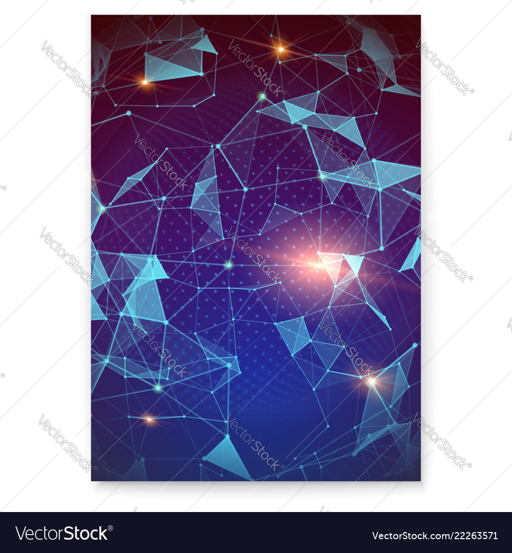 Plexus abstract digital poster representing the