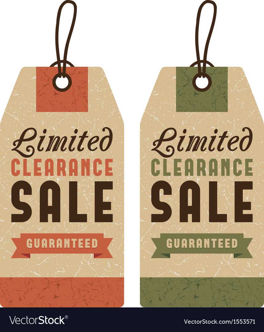 Set of discount sale labels vector image