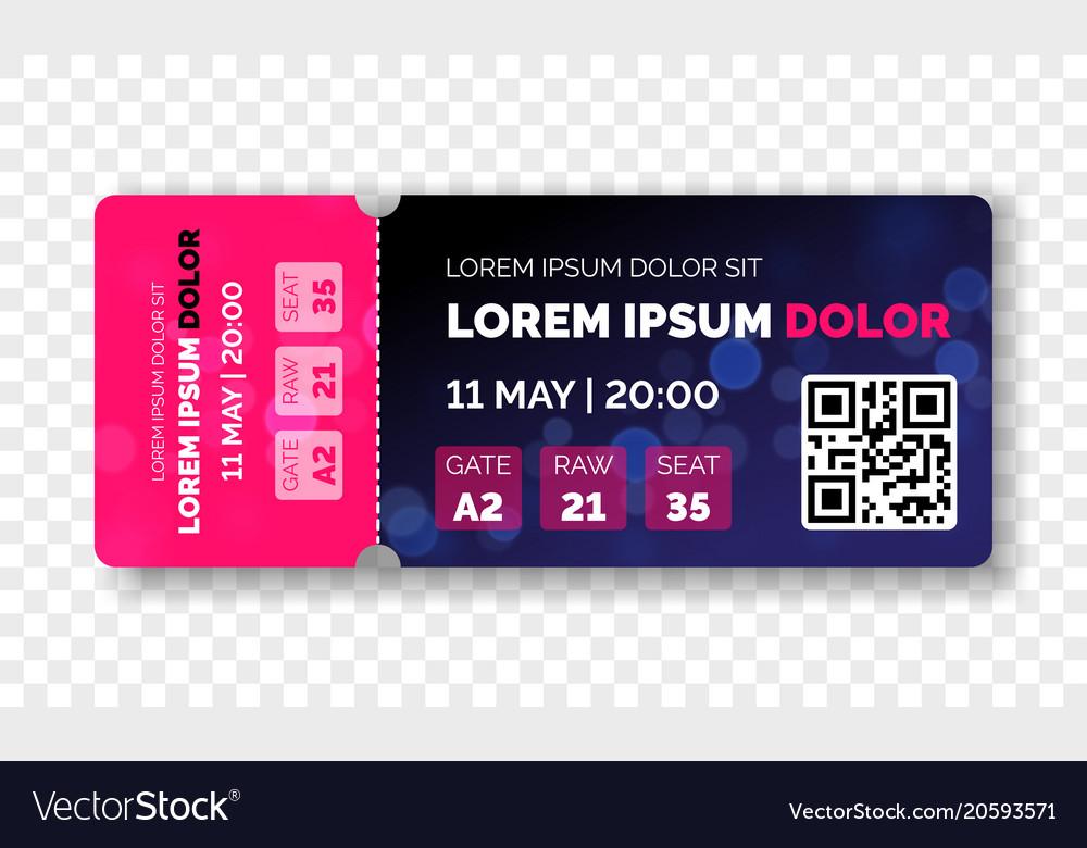 ticket template modern trendy design royalty free vector