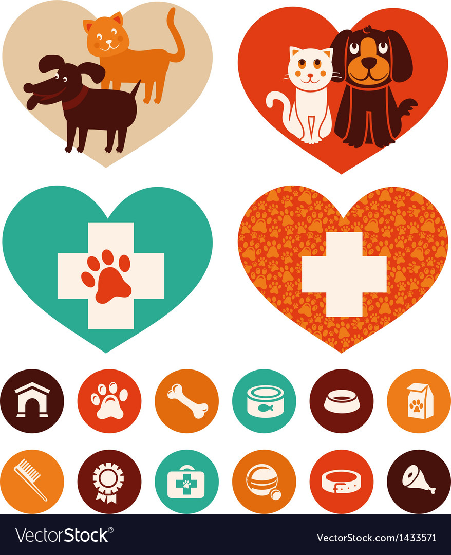 Veterinary emblems and signs
