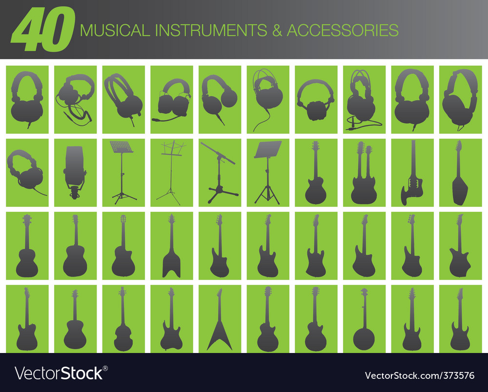 40 musical instruments and accessories