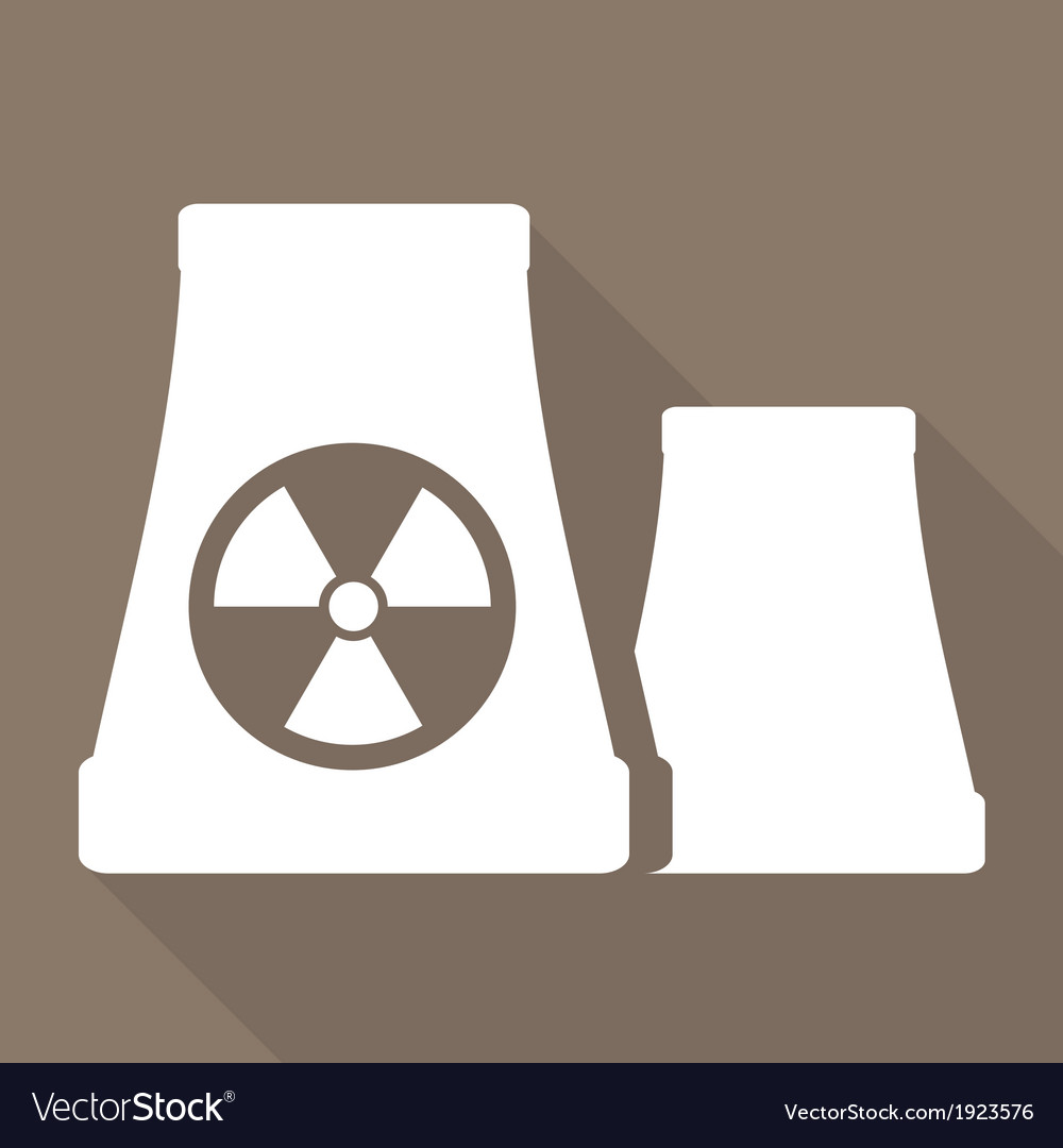 Atomic power station icon vector image