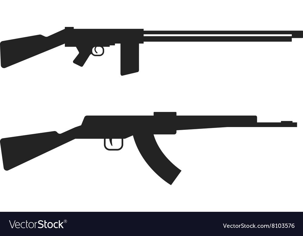 Automatic machine gun AK 47 isolated on white