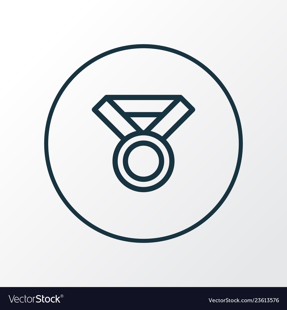 Award icon line symbol premium quality isolated