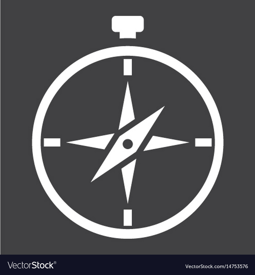 Compass solid icon navigation and travel