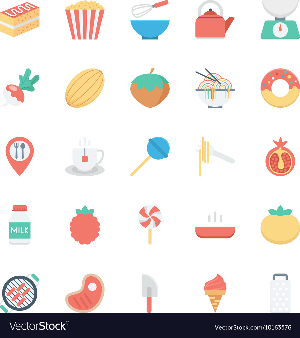 Food Colored Icons 6