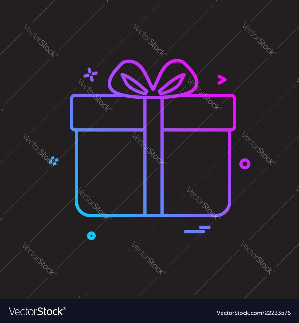 Gift Box Birthday Surprise Icon Design Royalty Free Vector