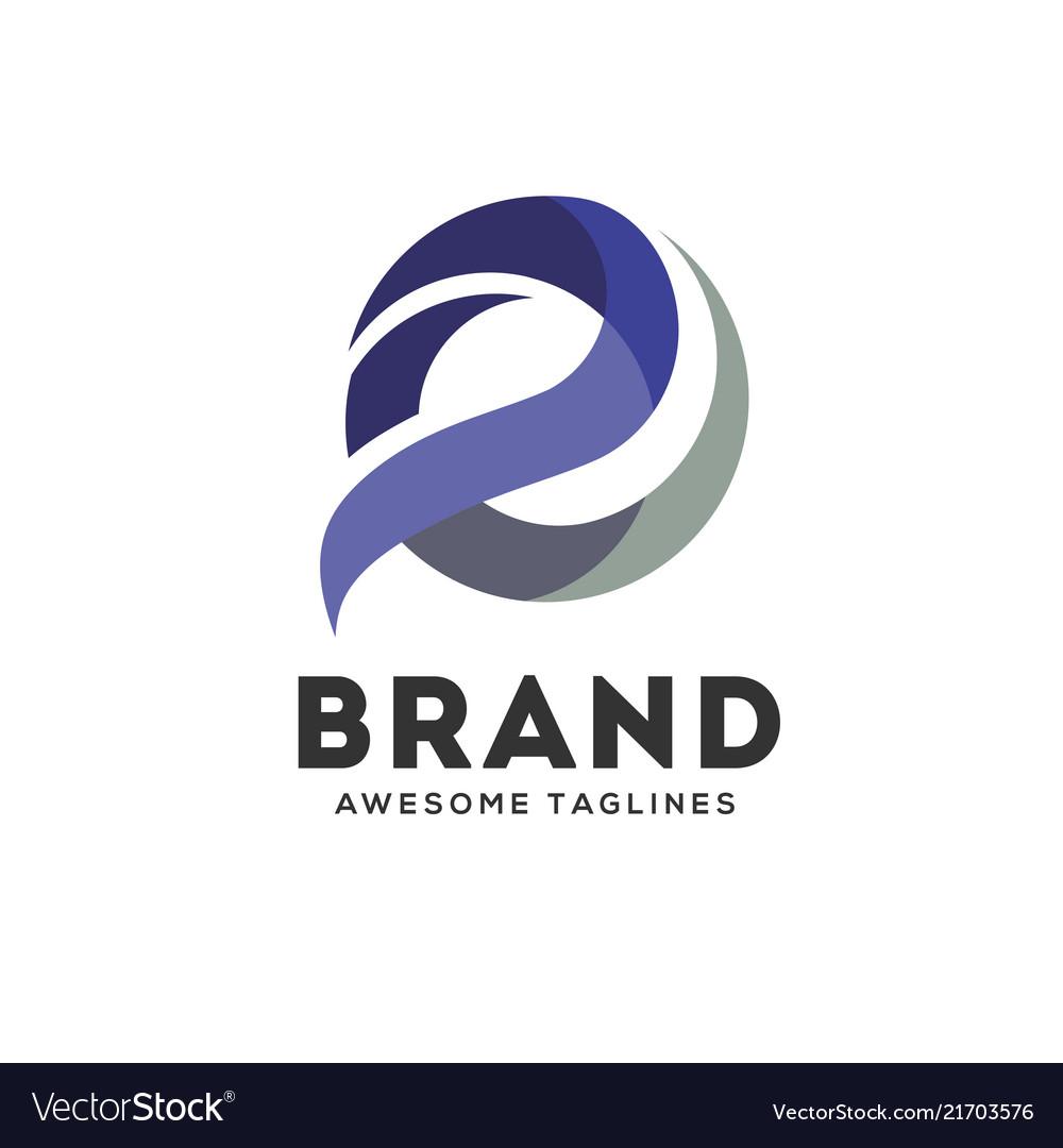 Letter e colorful logo design