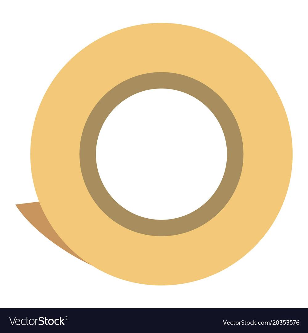 Scotch roll icon flat style