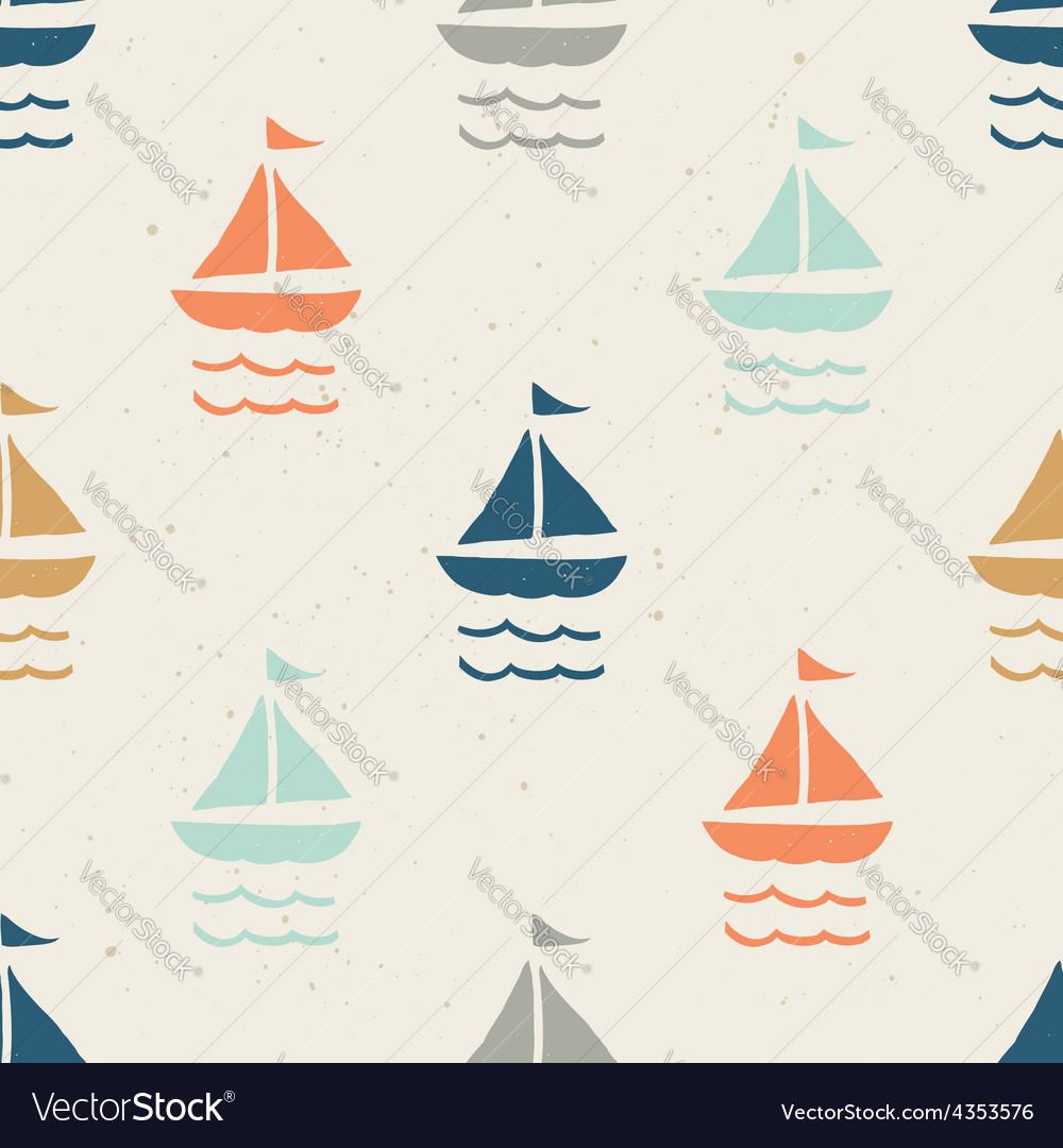Seamless pattern ships