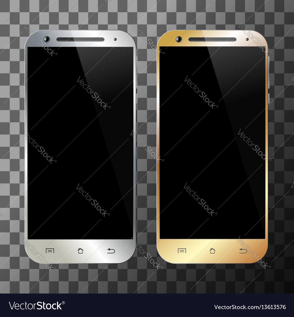 Smartphone silver gold