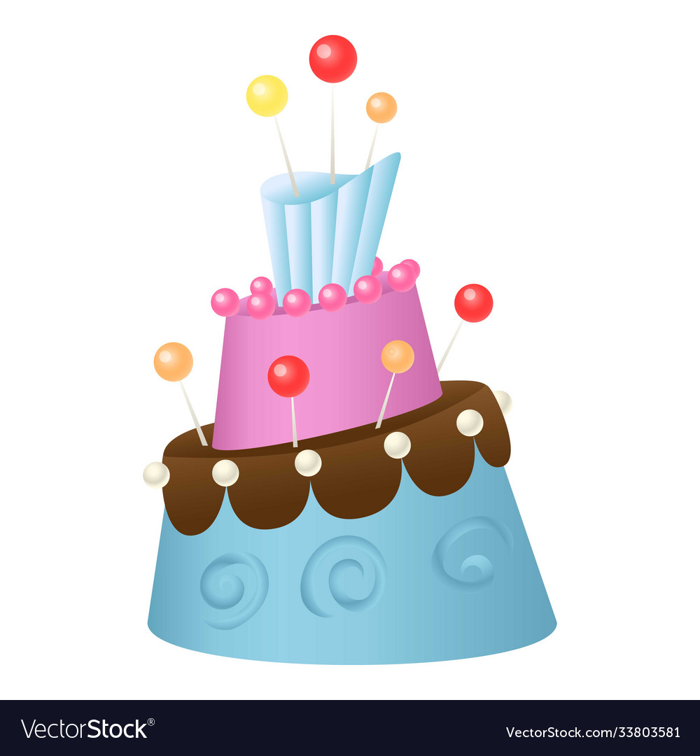 Anniversary Cake Icon Cartoon Style Royalty Free Vector