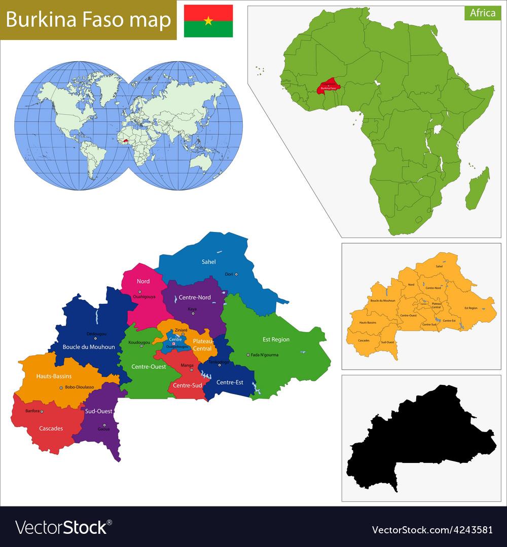 Burkina Faso Map Royalty Free Vector Image Vectorstock