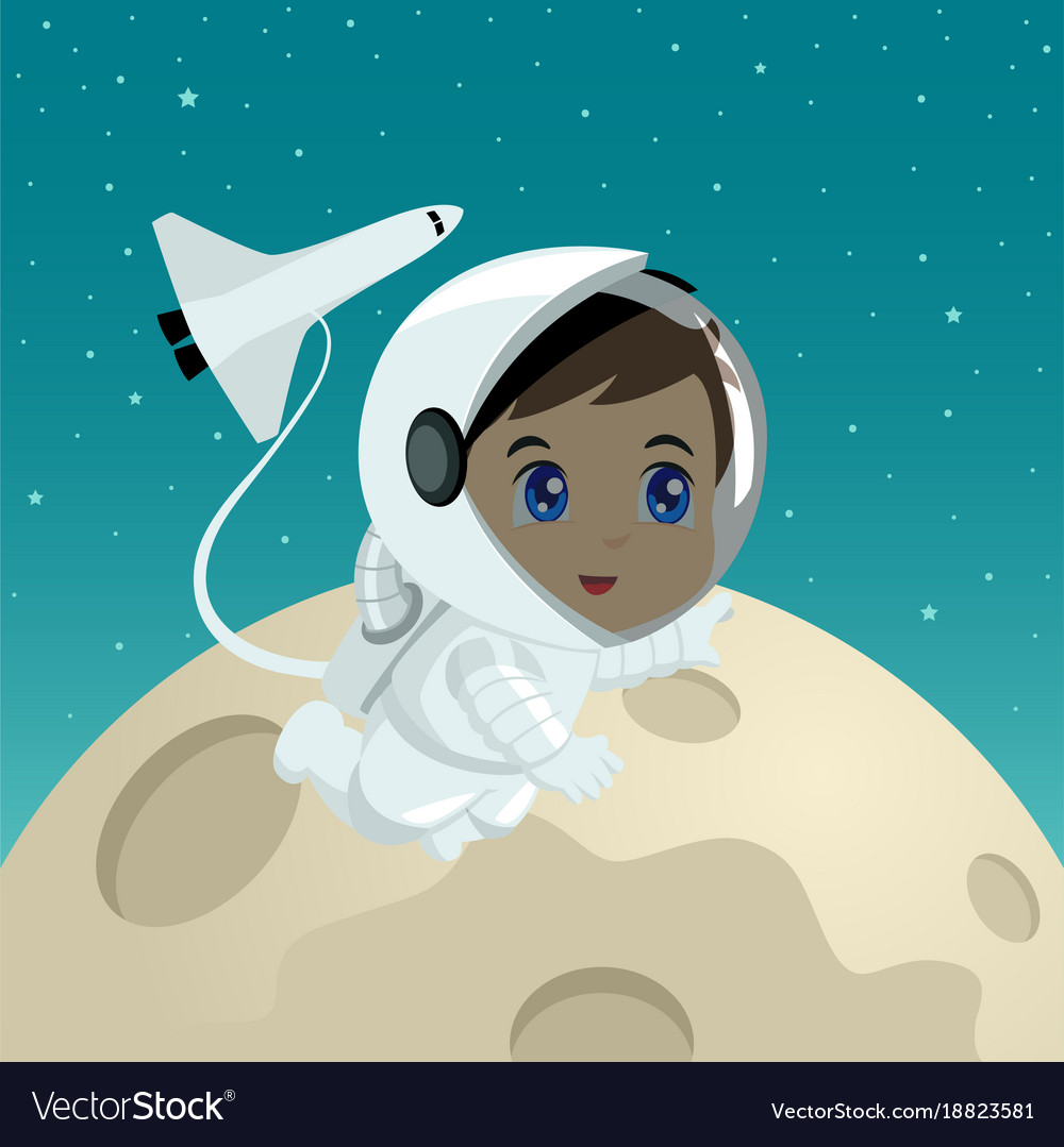 Cartoon of an astronaut