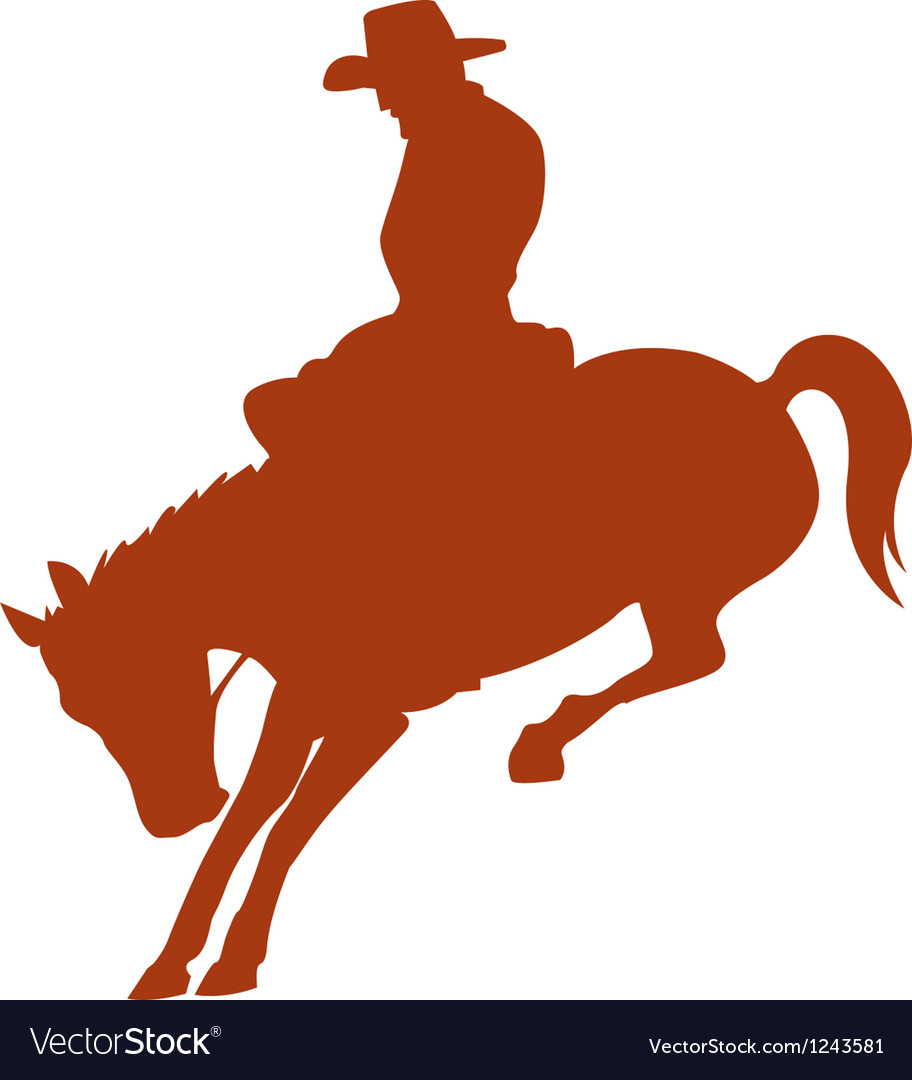 Cowboy rider silhouettes